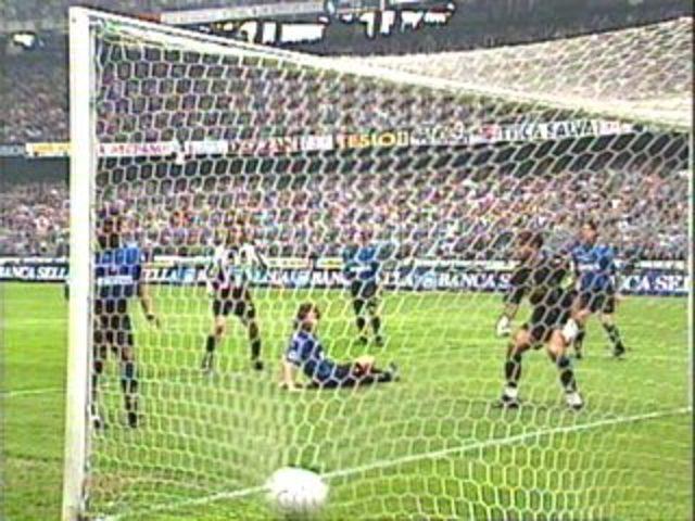 Rete scudetto contro l'Inter