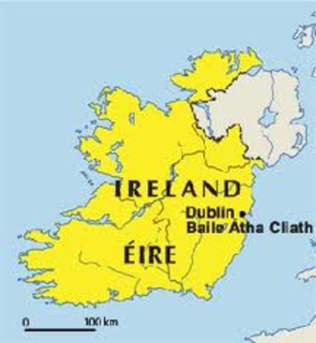 Fondation de la ville de Dublin en Irelande par les colons Vikings