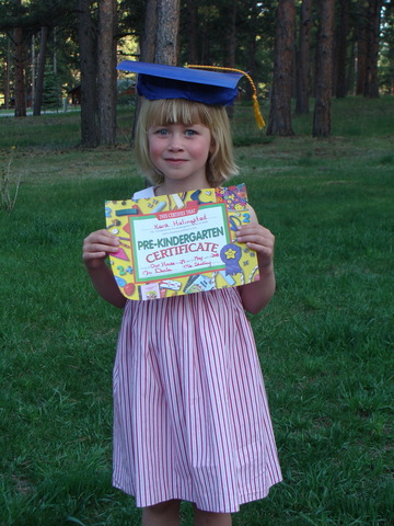 Last day of pre/kindergarten