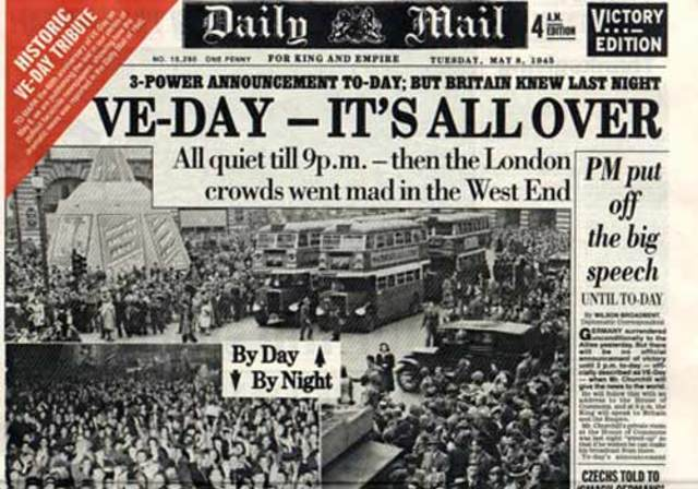 VE Day-End of WWII in Europe