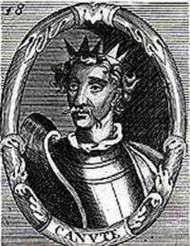 Knud,roi des Danois, regne aussi sur l'Angleterre