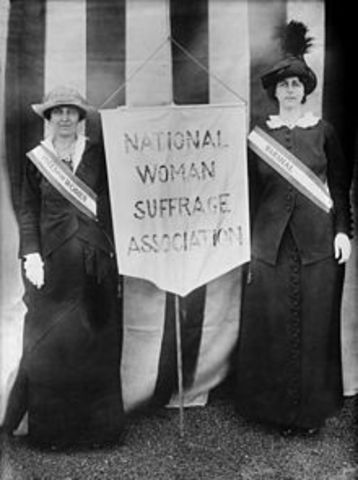 the formation of the national women suffrage association