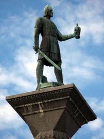 Olav 1er devient roi de Norvege