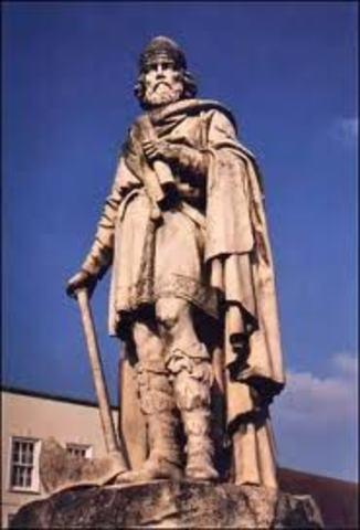 Alfred cede une partie du territoire anglais aux Danois