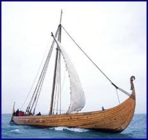 Les Vikings abandonnent la colonie de Vinland sur la côte est de L'Amérique du Nord