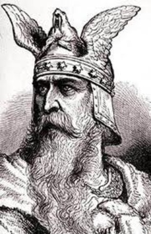 Leif Eriksson, fils d'Erik le Rouge, explore les cotes de l'Amerique du Nord