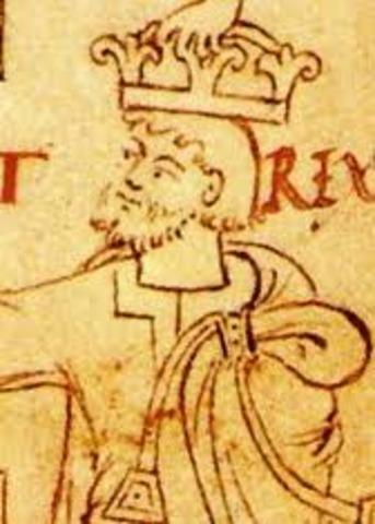 Knud, roi de l'Angleterre et du Danmark, s'empare de la Norvege