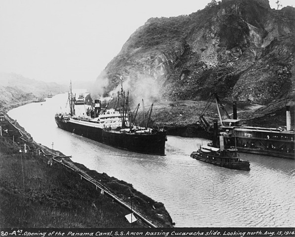 Panama Canal is opened