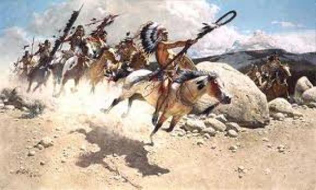 krig mot indianer framförallt under inbördeskriget 1622-1918