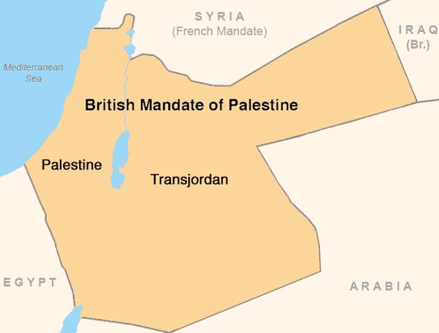 Start of British Mandate in Palestine