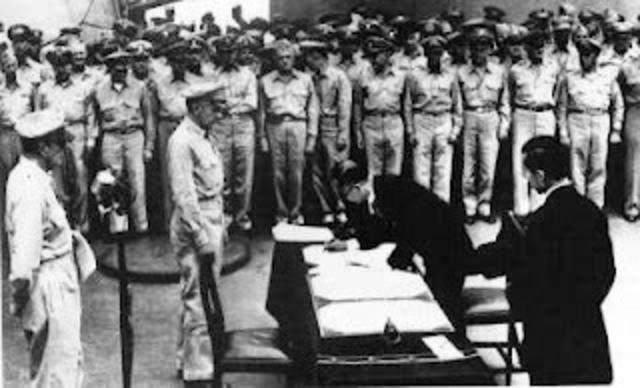 Capitulación de Japón.