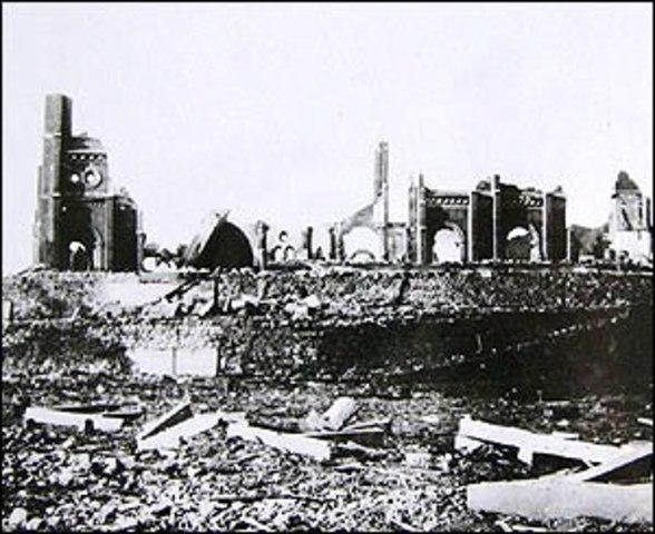 Bomba atómica norteamericana sobre Nagasaki