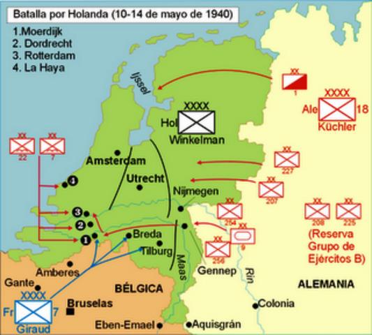 Alemania invade Holanda, Bélgica y Luxemburgo