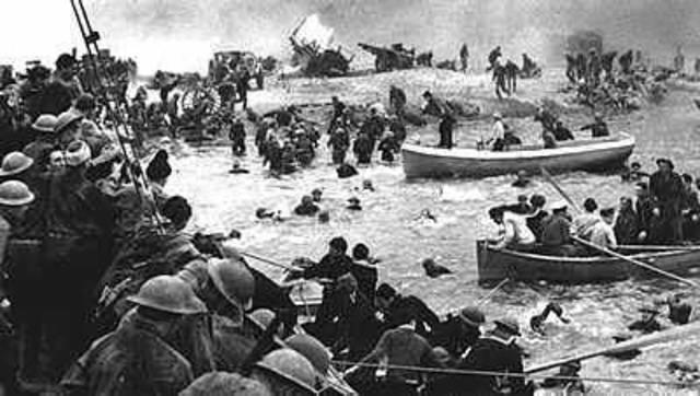 Evacuación anglo- francesa en Dunkerque