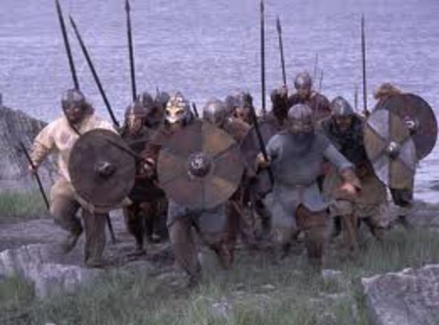 Etablissement des colonies vikings au Irlande