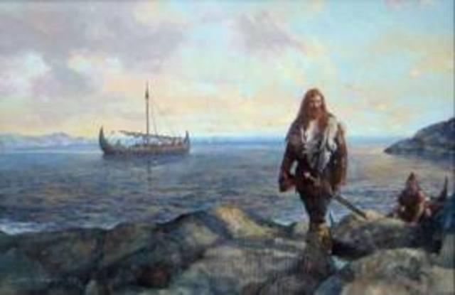 Etablissement de colonies de Vikings norvégiens à Dublin et ailleures en Irlande
