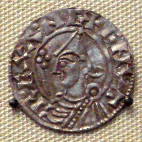 Knud (Canute), roi des Danois, règne aussi sur l'Angleterre