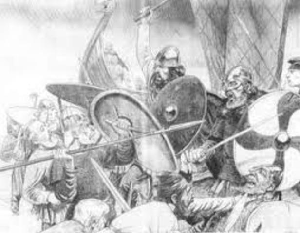 Alfred cède une partie du territoire anglais aux Danois