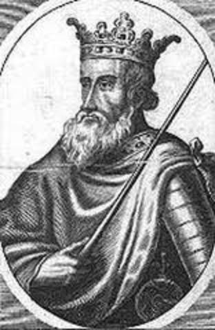 Knud, roi de l'Angleterre et du Danemark, s'empare de la Norvège