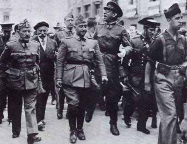 Franco declara el estado de guerra