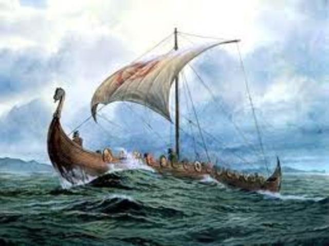 Voiliers vikings arrivent a Terre-Neuve