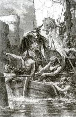 Fondation de la ville Dublin en Ireland par des colons vikings danois