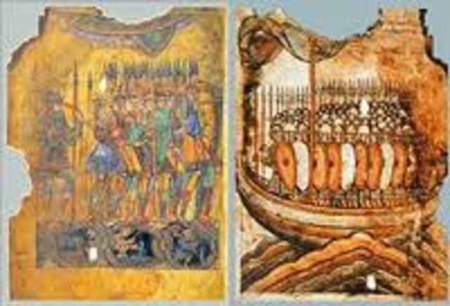 Attaques des vikings en Constantinople (Istanbul)