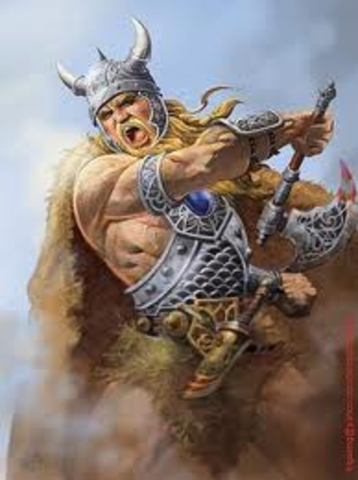 Le chef viking Rollon obtient des terres des Francs et fonde la Normandieen Francs