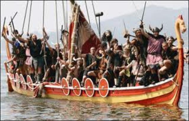 Raids des Vikings le long de la cote méditerranéennne