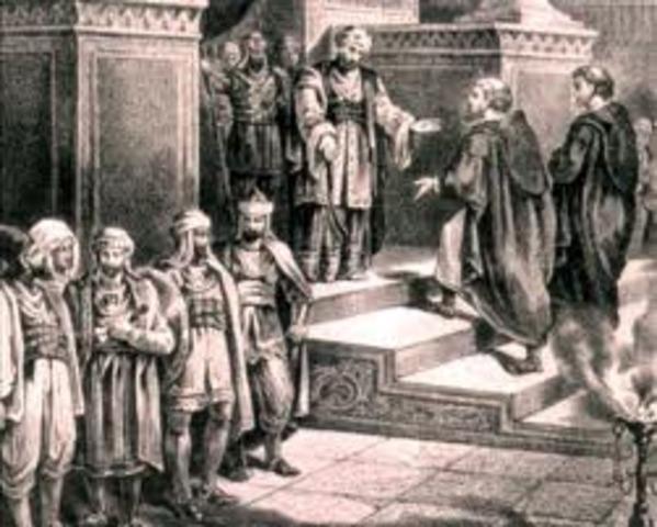 Olav 1e devient roi de Norvege et declare le territoire un Royaume cretien