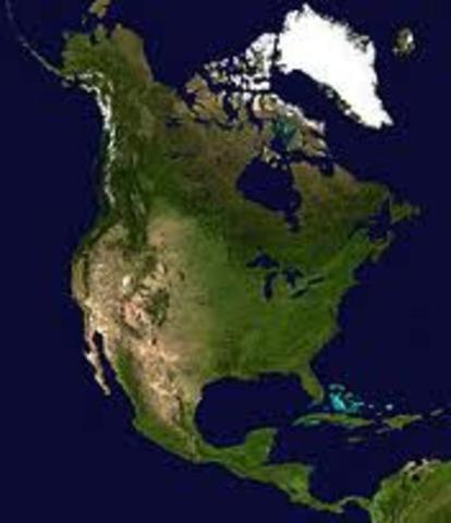 Leif Eriksson, fils d'Erik le rouge, explore les cotes de l'Amerique du Nord.