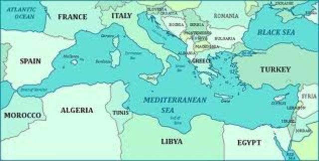 Raids des Vikings le long de la cote mediterraneenne.