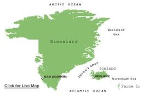 Le christianisme attient le Groenland et l'Islande.