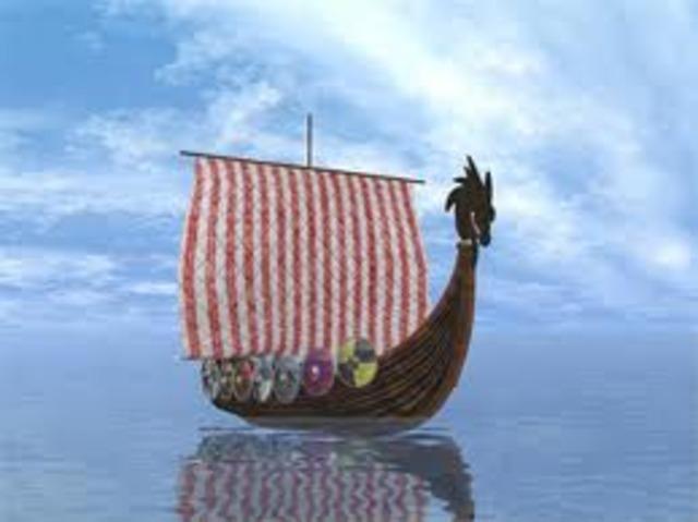 Les Vikings abandonnent la colonie de Vinland sur la cote est de l'Amerique du Nord.