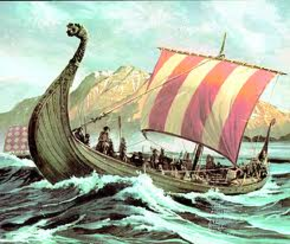 Leif Erikson, Fils D`Erik Le Rouge, Explore les Cotes De l`Amerique Du Nord