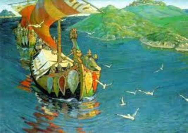 Attaque des Vikings a constantinople (Istanbul)