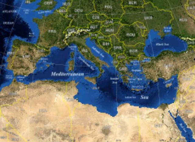 Raids des Vikings sur la côte du Méditerranéenne