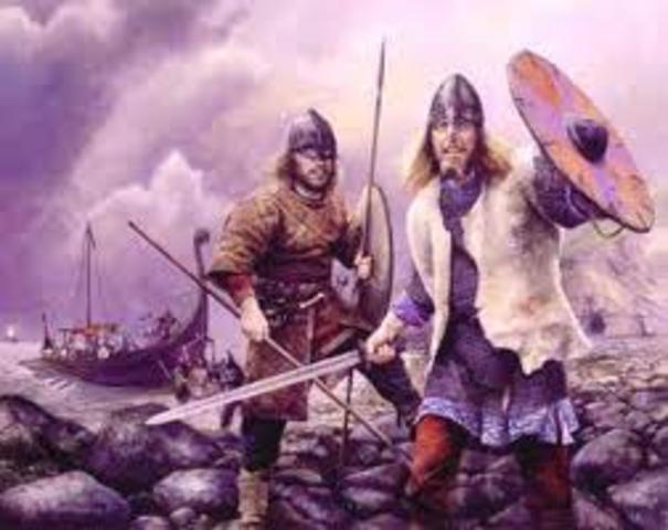 Débuts des attaques de vikings sur Angleterre
