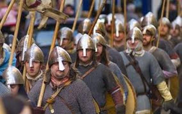 Etablissement d'un royaume à York, Angleterre par les Vikings Danois