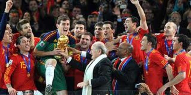 España gana el mundial de futbol