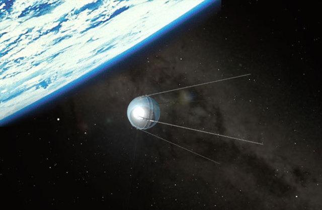 Soviet Satellite Sputnik Launches Space Age