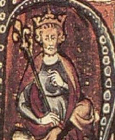 Knut, roi des Danois, regne aussi sur l'Angleterre