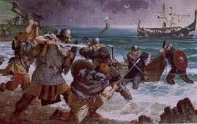 Debut des attaques des Vikings en Angleterre