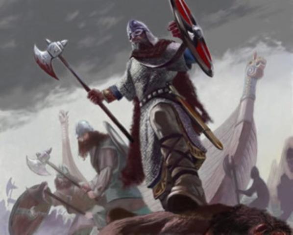 Edouard le confesseur règne sur l'Angleterre avec les Danois
