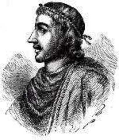 Knud, roi de l'Angleterre et de Danemark, s'empare à Norvège