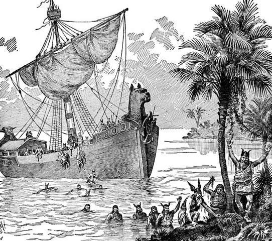 Des voiliers vikings arrivent a Terre-Neuve