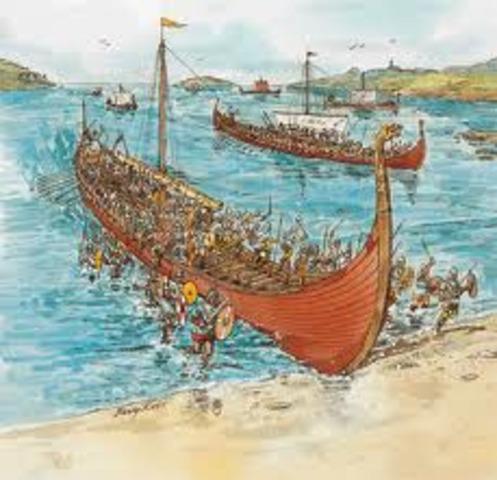Etablissement d'un royaume a Your, Angleterre, par des Vikings