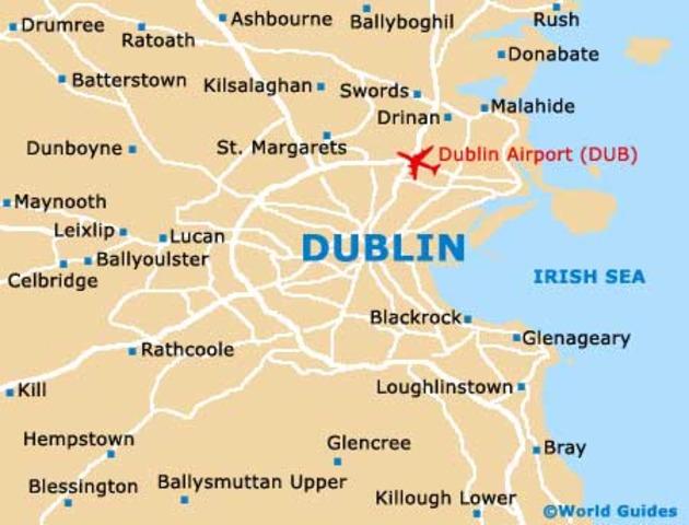 Des Vikings faissait la ville de Dublin en Ireland