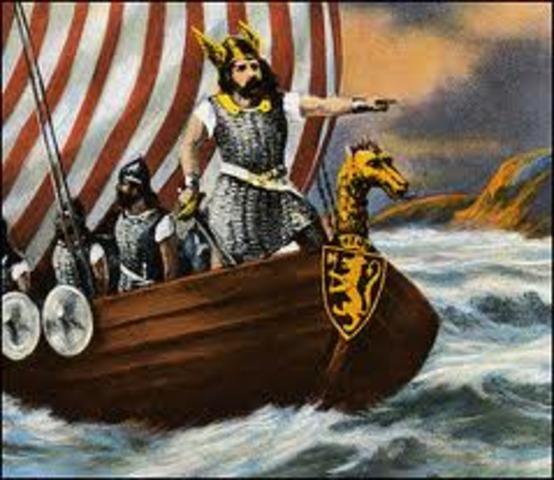 Le chef viking Erik le Rouge decouvre le Groenland