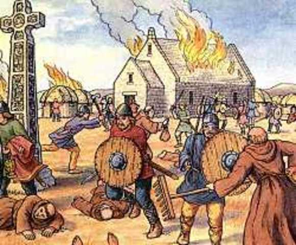 Echec d'un raid Viking a Seville(Espagne)
